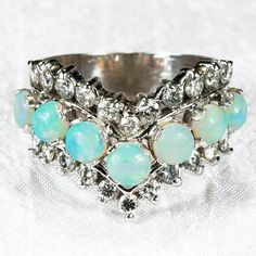 Wedding Jewelry – Page 7 Sparkly Jewelry, Opal Jewelry, Wedding Jewelry, Jewelry Rings, Opal Rings, Gemstone Rings, Natural Opal, Diamond Bands, Beautiful Rings