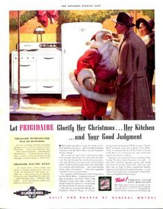 1938 Frigidaire refrigerators ad. The Saturday Evening Post.