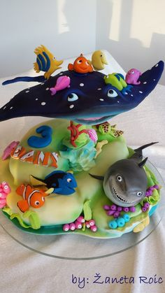 I Made This Cake For My Sons 3rd Birthday Of Course He Adores Nemo Lt3 on Cake Central