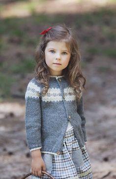 Beautiful Hand Knitted Alpaca Fair Isle Cardigan | GeraBloga on Etsy