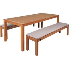 Nouveau Pacific 3 Piece Bench Setting - Mitre 10 Bench Set, Beach Bars, 3 Piece, Dining Bench, Outdoor Furniture, Gardens, Design, Home Decor, Dining Room Bench