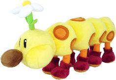 "Sanei Super Mario Plush Series Plush Doll 11"" HanaChan/Wiggler Plush Japanese Import Sanei http://smile.amazon.com/dp/B004DNX9IK/ref=cm_sw_r_pi_dp_RijRub1G3JRVV"
