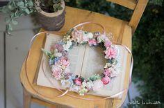 ピンクローズナチュラル花冠