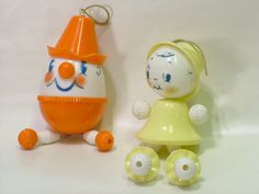 Vintage Nursery Decor Baby Rattles Humpty Girl by RetroMondeStudio
