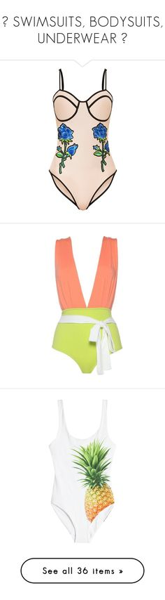 """♥ SWIMSUITS, BODYSUITS, UNDERWEAR ♥"" by breynolds1 ❤ liked on Polyvore featuring swimwear, one-piece swimsuits, bathing suit swimwear, swim costume, swim suits, swimsuit swimwear, swimsuit, tops, lime green and full coverage one piece swimsuit"