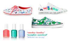 Lona y estampado de colores para tus pies | essie blog