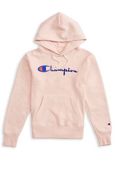 Achetez le Champion Reverse Weave Script Logo Hoodie chez Yagö skateshop & streetwear en couleur Pink disponible via un envoi rapide international. Cute Lazy Outfits, Trendy Outfits, Summer Outfits, Girl Outfits, Trendy Hoodies, Comfy Hoodies, Sweatshirts, Hoodie Outfit, Sweater Hoodie