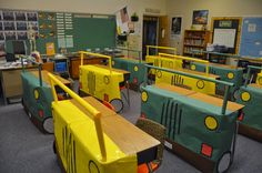We went on an African safari complete with safari cars made from student desks. Huge hit!!!  www.lynchwps.blogspot.com