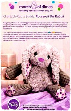 Help #prevent #prematurebirths and infant mortality while bringing #comfort to families when they need it most ♥  Because $6.50 from every purchase of #RoosevelttheRabbit will be #donated to the #MarchofDimes destino #campaign! Available for purchase March 1st at www.justawickaway... #JustAWickAway #Scentsy #NewCatalog #CharitableCauseBuddy #ScentsyBuddy #Fragrance #Kids #GiveBack #ScentsyLove