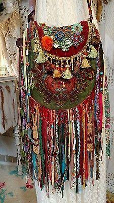 Handmade Ibiza Festival Bag Gypsy Hippie Boho Jewelry Fringe Purse tmyers - My Accessories World Boho Hippie, Boho Gypsy, Hippie Style, Estilo Hippie Chic, Gypsy Bag, Gypsy Style, Boho Style, Bohemian Bag, Mundo Hippie