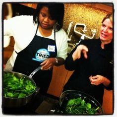 Hands-on Mediterranean cooking lesson at the Viking Cooking School in Atlanta, GA #VikinginGA