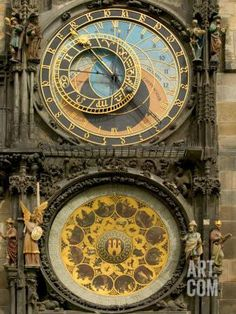 The Astronomical Clock, Prague, Czech Republic Photographic Print by Russell Young at Art.com