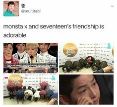 Not only are the groups friends, but the fandoms get along too! I love it