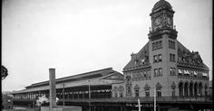 Main Street Station, roughly 48 years before the construction of I-95/Richmond-Petersburg Turnpike would obscure this view forever. Main Str...