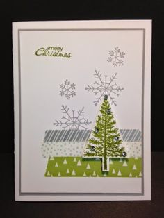 Festival of Trees, Christmas Card, Stampin' Up!, Rubber Stamping, Handmade Cards