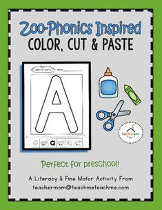 Builds fine motor skills by focusing on the alphabet! Perfect for preschool! Created by Teach Me! Teach Me! Preschool Centers, Preschool Curriculum, Preschool Lessons, Preschool Alphabet, Homeschooling, Kindergarten, Phonics Activities, Learning Activities, Zoo Phonics
