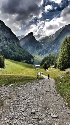 Trail to Seealpsee, Switzerland