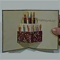 Carte gâteau d'anniversaire en pop'up Tuto pour faire