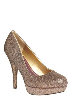 Note to self - must acquire glittered heels!  (Pick of the Glitter Heel on Mod Cloth $54.99)