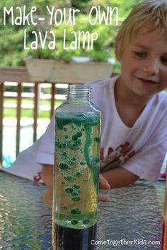 Make your own lava lamp sounds like a fun activity mixed with articulation cards for a middle-elementary aged child.