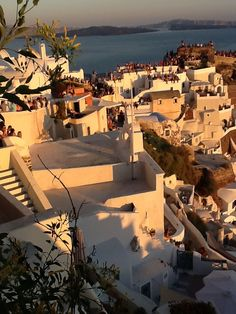 Crowd gathering to watch the sunset at Oia, Santorini Oia Santorini, Crowd, Opera House, Travel Photography, Sunset, Mansions, Watch, House Styles, Building