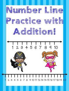 """Addition - Help your students learn how to use a number line with addition facts. Worksheets and games!Number lines range from and Included are: 1 poster on how to use a number """"fill in the number"""" addition to 10 addition to 20 printable s. Kindergarten Math Activities, Preschool Science, Math Resources, Subtraction Activities, Numeracy, Student Learning, Teaching Math, Fun Learning, Math Education"""