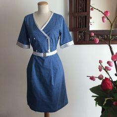 Blue Japanese Inspired Print Blazer Dress on Carousell