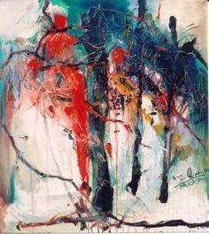 Grazyna TARKOWSKA - Les champs de la vie - Peinture - Huile sur toile