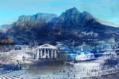 Bespoke digital and hand-textured Cape Town cityscape artwork by Janet Botes for one of our corporate customers. South African Artists, Artwork Display, Cape Town, Bespoke, Original Art, Digital, Gallery, Outdoor, Taylormade