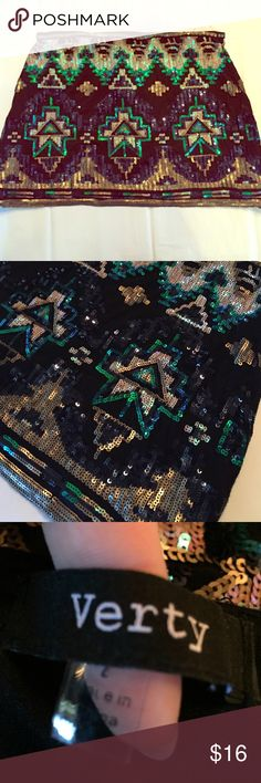 Sequin skirt Aztec sequin skirt. Worn once. Bought at boutique. So cute. Skirts Mini