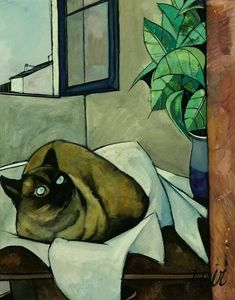 Коты в стиле кубизм: 7 thousand results found on Yandex.Images Art And Illustration, Curiosity Killed The Cat, Guache, Pretty Cats, French Art, Animal Paintings, Oeuvre D'art, Crazy Cats, Cool Cats