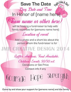 Breast Cancer Benefit Flyer Template | Click on image to increase ...