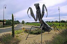 Surprising creature placed on the roundabout Sérignan-du-Comtat (Vaucluse). ©  Serge Agombart - Photo Gallery