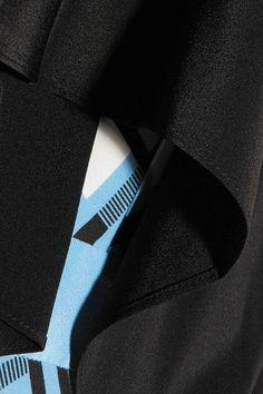 Diane von Furstenberg - Draped Printed Silk-blend Wrap Dress - Blue - US10