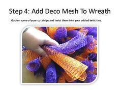10 Steps to Making a Full Curly Deco Mesh Wreath