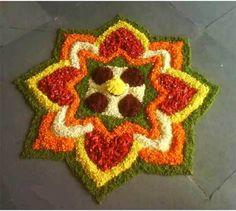 simple geometrical rangoli designs