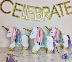 Piñata de unicornio mini Piñata de unicornio llena de