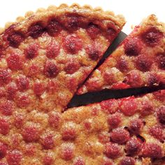 Brown Butter Raspberry Tart. Brown butter gives depth of flavor to the berry filling.