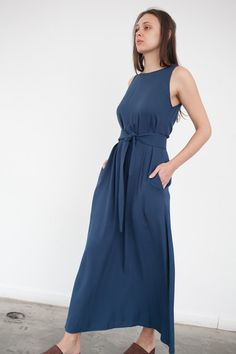 Jesse Kamm Palma Dress in Nautical Blue