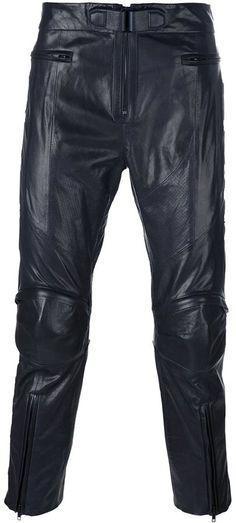 Juun.J zipped legs cropped trousers