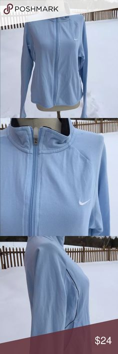 Nike Warm Up Athletic Jacket Size Large Size large. 92% cotton. 8% spandex. Super gently preowned. Be sure to view the other items in our closet. We offer both women's and Mens items in a variety of sizes. Bundle and save!! Thank you for viewing our item!! Nike Jackets & Coats
