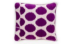 Madeline Weinrib Ikat Pillow - Purple Mu fabric