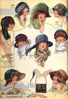 Hats, Sears, Roebuck & Co., 1923