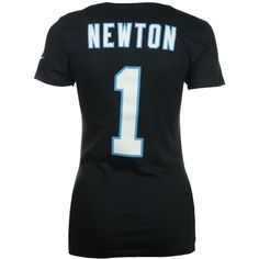 Nike Women's Cam Newton Carolina Panthers Player Pride T-Shirt ($32) ❤ liked on Polyvore featuring tops, t-shirts, black, nike tee, nike t shirts, nike, polish t shirts and nfl t shirts