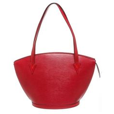 6af2b1c3d4 Louis Vuitton Red Epi Leather Saint Jacques Gm Shoulder Handbag ( 905) ❤  liked on