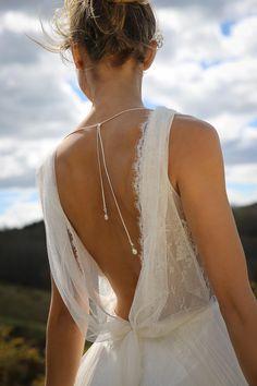 I'm a fan of Marie Laporte marriage ceremony attire. Yearly, fashions of r . Wedding Dress Backs, Wedding Dress Trends, Designer Wedding Dresses, Boho Wedding, Wedding Bride, Wedding Gowns, Dream Wedding, Wedding Jewelry, Dresses Elegant