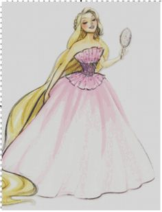 Large Size Disney Designer Princess Doll Rapunzel (Tangled) Cross Stitch Pattern PDF (Pattern Only) on Etsy, $5.00