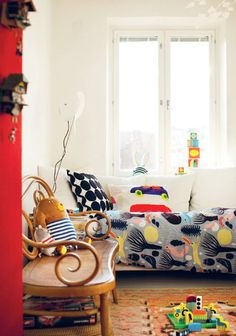 kids room with marimekko products