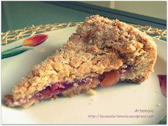 Torta sbrisolona con farcitura di mele e fragole senza lattosio <3