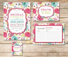 Printable Bridal Shower Invitation Party Pack Vintage by plpapers